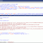 Screen shot of HTML source of page containing a link to the branding CSS.